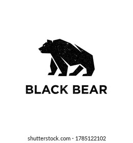 vector illustration Vintage Black Bear logo inspiration, good for fitness and outdoor logo brand template