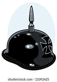 vector illustration of a vintage german army helmet.... graphic is contained in a clipping mask