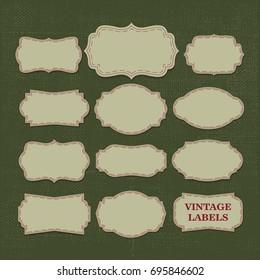 Vector Illustration : Vintage Lable