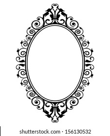 Vector illustration of vintage mirror