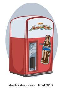vector illustration of a vintage vending machine