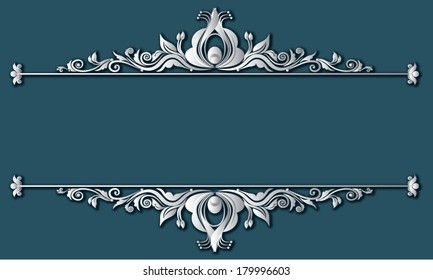 Vector illustration of vintage Victorian frames and boarders