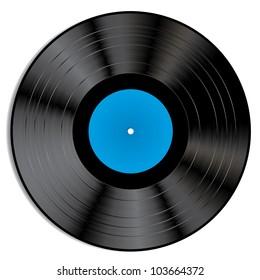 Vector illustration of a vinyl record.
