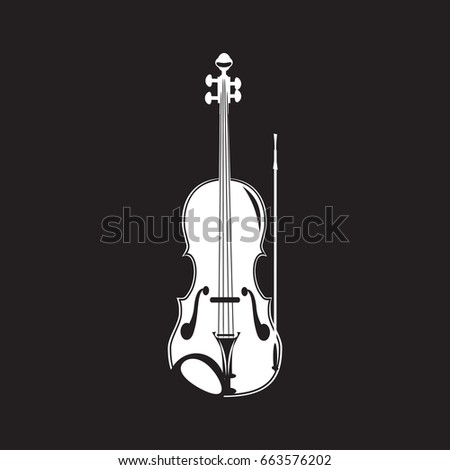 vector illustration violin white template on stock vector royalty