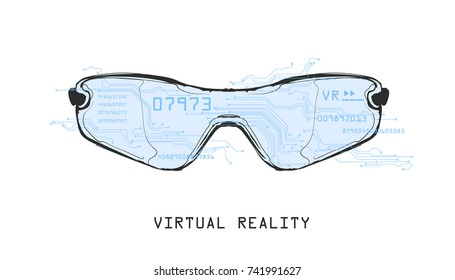 Vector illustration - Virtual Reality glasses