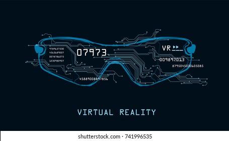 Vector illustration - Virtual Reality glasses
