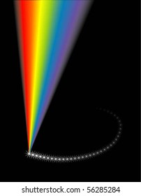 vector illustration of visible light spectrum