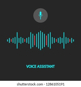 Vector illustration of a voice recognition assistant