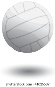 Vector illustration of a volley ball.