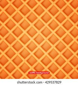 Vector illustration waffle background