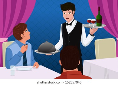 Waiter Cartoons Images, Stock Photos & Vectors | Shutterstock