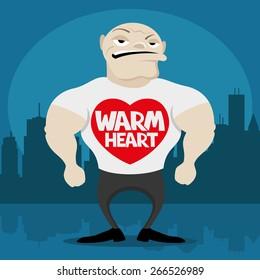 Vector illustration. Warm heart.