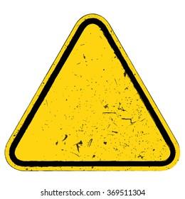 Vector illustration of warning sign