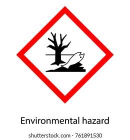 Vector illustration warning sign. Official environmental hazard sign, symbol.