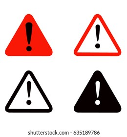 vector illustration of warning signs