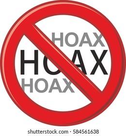 vector illustration warning symbol Do not publish hoax/HOAX