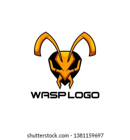 Vector  Illustration of Wasp bee gaming Logo  design for game, team, military company and other
