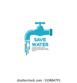 Vector illustration of water conservation