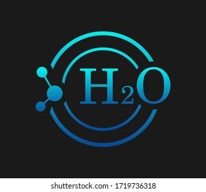 Vector illustration of water logo on dark background.