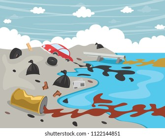 Pollution Of The River Images, Stock Photos & Vectors | Shutterstock