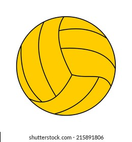 vector illustration of water polo ball isolated on white background.