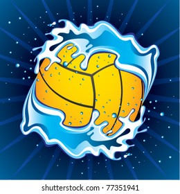 vector illustration of water polo ball