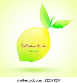 Vector illustration of watercolor lemon