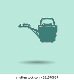 Vector illustration of  Watering Tool  color background.