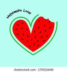 vector illustration of a watermelon lover