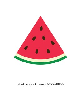 Vector illustration of a watermelon wedge