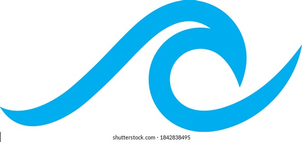 Vector illustration of the waves