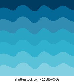 Vector illustration of waves texture background. water waves abstract background.