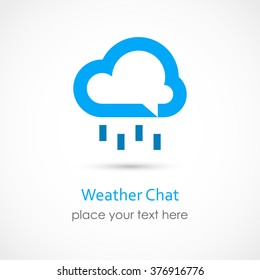 Vector illustration of a Weather Chat