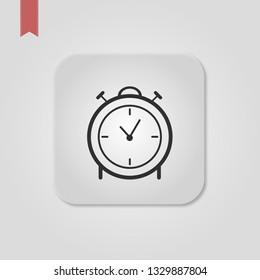 Vector illustration web icon push-button alarm clock