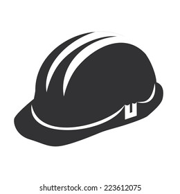Vector illustration of a web icons - safety helmet, hard hat