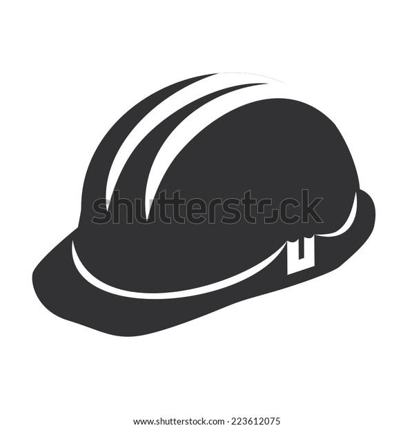 Vektorgrafik eines Web-Icons - Sicherheitshelm, harter Hut