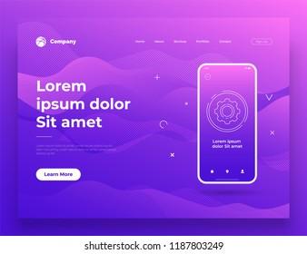 Vector illustration of web page design for website and mobile website development. Background design.