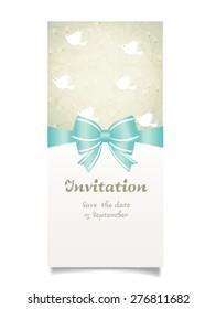 Vector illustration. Wedding invitation card.