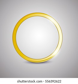 vector illustration wedding ring on a gray background