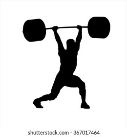 "The vector illustration ""Weightlifter, clean and Jerk"""