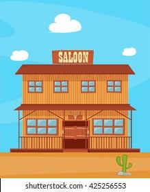 vector illustration western city