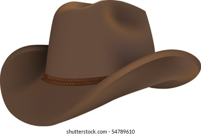 Vector illustration of a western hat for cowboy