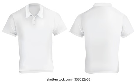 Vector illustration of white blank polo shirt template 57d68c99960fc