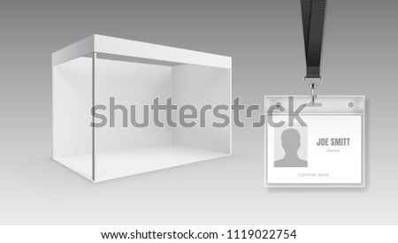 Portable Exhibition Folding Display : Vector illustration white blank portable folding stock vector