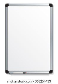 Vector illustration of white board with colored maker