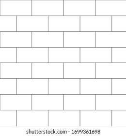 A vector illustration of a white brick wall. The wall covers the illustration from corner to corner, serving as both the background