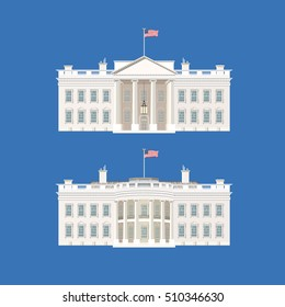 Vector illustration with White House.Washington,president,US.