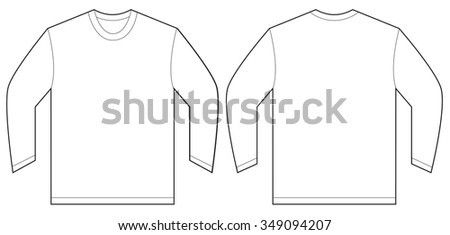 2b226861b77c Vector Illustration White Long Sleeved Tshirt Stock Vector (Royalty ...
