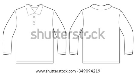 f7ce13ad28c5 Vector Illustration White Long Sleeved Polo Stock Vector (Royalty ...