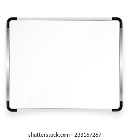 Vector illustration of white office board with place for your text
